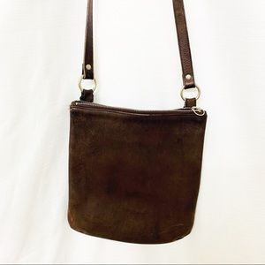 Vintage Brown Coach Leather Crossbody 9457
